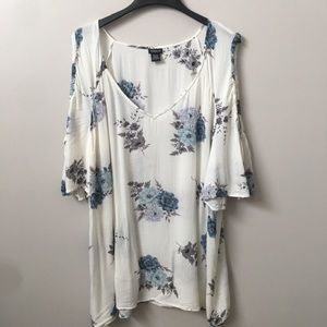 Torrid Floral Textured Cold Shoulder Top